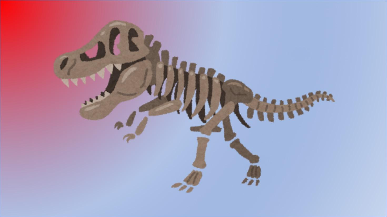 ジュラ紀の恐竜の化石