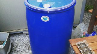 【DIY】家庭菜園用にも、もしもの時にも、とっても安くていい雨水タンクを付けました【環境問題の次のテーマは水】