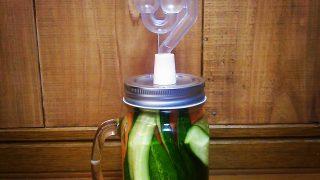【レシピ】100均ガラス瓶とエアーロックで発酵家っぽい雰囲気の自家製ピクルス・酸っぱい【発酵】