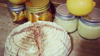 【発酵】無農薬檸檬で、レモネード・塩レモン・レモン酵母を作って、リュスティックを焼いてみた【レシピ】