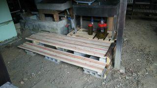 【DIYクリエーターズ】水回りを使いやすく。。木を製材体験もして・・・デッキをこさえました【丸太のiphoneスタンドも】