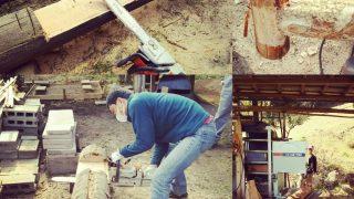 【DIYクリエーターズ】チェーンソー&バンドソー講習会 ログハウス修復のための製材を学ぼう!【長椅子できた(笑)】