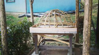 【DIYクリエーターズ】来週はピザ・パン窯のワークショップ アースオーブンの上の屋根作り【畑の農楽校】
