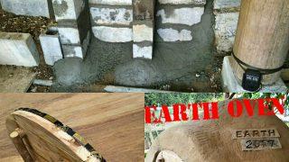 【DIYクリエーターズ】アースオーブンの蓋を断熱仕様に!空中ログハウス裏のブロック擁壁つくりPart2【セメントの基本】