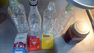 【発酵】炭酸水をイーストで作ってみる実験 しゅわしゅわぁ~ってなりますが、爆発注意です【夏休みの実験とかにどう?】