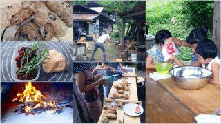 【DIYクリエーターズ】アースオーブンでパンを焼こう会+子供パン教室+かご編みの会【山のパン屋さん】