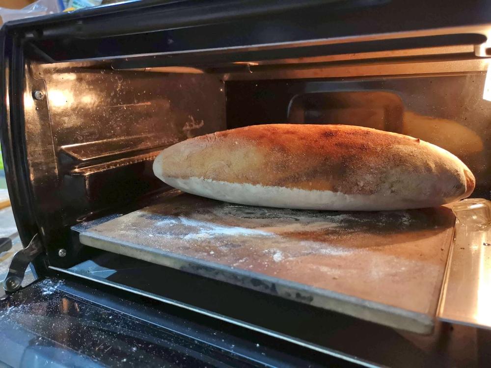 デロンギオーブンで高加水パン